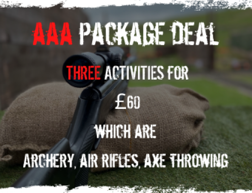 AAA Package – £60 per person ……..winter offer £49.